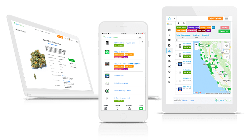 CannTrade Cannabis CRM and Hemp CRM on Multiple Devices
