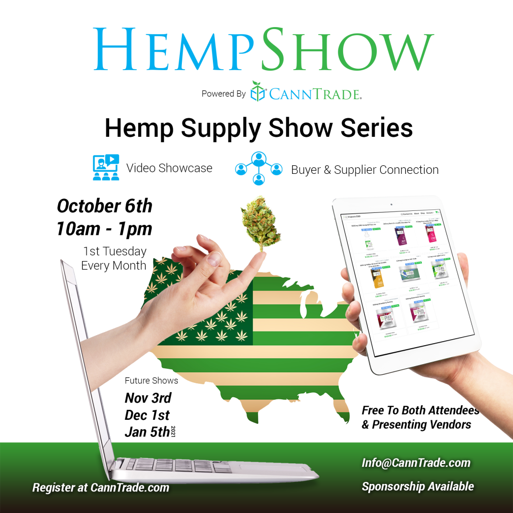 The Hemp Supply Show Series is coming this October