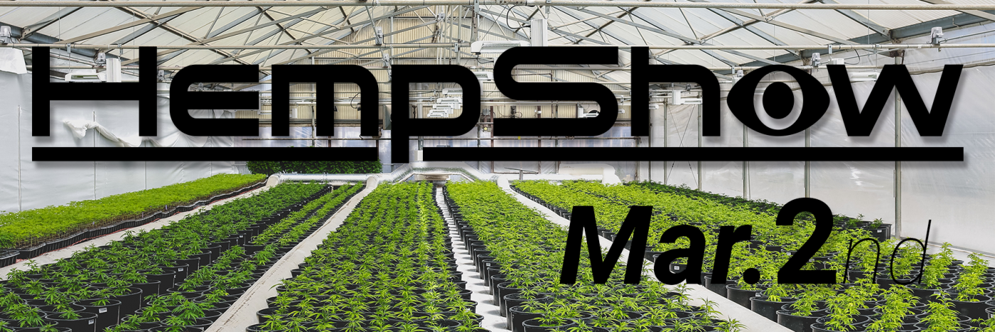 This is a advertisement banner for the hempshow